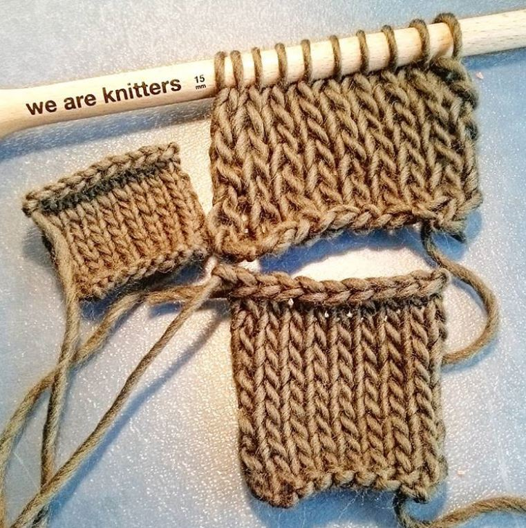 same wool different needles